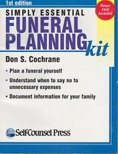 SIMPLY ESSENTIAL FUNERAL PLANNING KIT - COCHRANE -PLAN A FUNERAL YOURSELF NEW SC