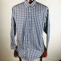 Eddie Bauer Mens XL Plaid Long Sleeve Button Down Shirt Relaxed Fit Wrinkle Free