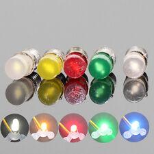 10PCS  Colorful  LED Screw Bulb E5 E5.5 12V-14V Spur H0/TT/N Scale NEW