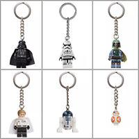 Lego Star Wars Keyrings/Portachiavi - Boba Fett, Darth Vader, R2-D2, BB-8 [NEW]