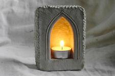 Stimmungsvoller Steintempel für Teelichter Windlicht Landhausstil Laterne 01 (A)