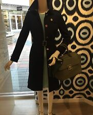NWT, AUTHENTIC TORY BURCH CASEY BELTED TRENCH COAT/JACKET SIZE 6 Black