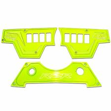 3 Pc 8 Switch Dash Panel Kit Lime Squeeze Powdercoated for Polaris RZR XP1000