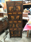 Antique Korean Persimmon Wood Chest on Chest