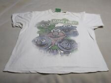 123 SESAME STREET Men's T Shirt White Preowned Short Sleeve ~ 4028