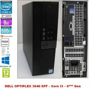 PC Dell Optiplex 3040 Petit Format Core i3-6100 3.7GHz 8Gb 500Go Win10 Pro HDMI