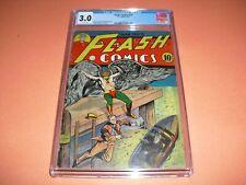 Flash Comics #15 CGC 3.0 from 1941! Classic Moldoff Hawkman cover not CBCS