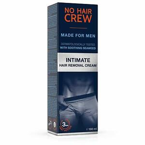 NO HAIR CREW Premium Intimate Hair Removal Cream – Extra Gentle Hair Removal Cre