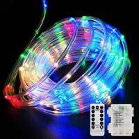 Outdoor LED Strip Rope Lights Solar/Battery Power Fairy String Light Tube Lights