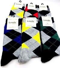 6 PAIRS NEW COTTON MEN LORDS ARGYLE STYLE DRESS SOCKS SIZE 10-13 Father's Day
