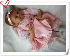 "22"" Handmade Lifelike Baby Girl Doll Silicone Vinyl Bambole Reborn baby bambini"