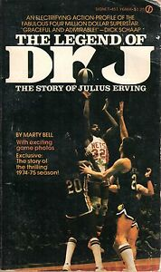 1975 Signet Books, The Legend of Dr. J.,The Story of Julius Erving by Marty Bell