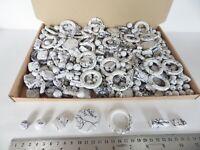 JOB LOT: One kilo (1 kg)  of White/Black Acrylic Beads - many shapes/sizes