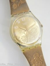 Swatch Fiori d'Amore GK381 Women's 2002 Collection Watch Leather Strap Analog