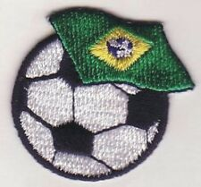 "1 1/2"" Soccer Ball Futebol Brazil Brasil Flag Bandeira Embroidery Applique Patch"