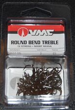 VMC 9651 Short Shank Treble Hooks Size 3 - Pack of 25 9651BN-03 Black Nickel