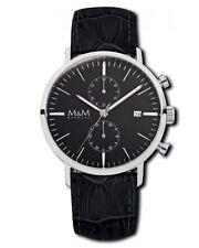 Runde polierte M&M Armbanduhren mit 12-Stunden-Zifferblatt