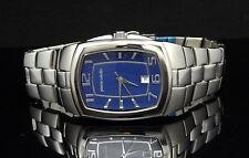 Pierre Cardin PC2185WU Silver Tone Stainless Steel Blue Dial Men's Watch $120