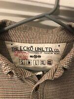Under $20.00 VTG Ecko UNLTD Mens Size 2X Brown  Plaid Long Sleeve shirt