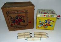 "DISNEYLAND 1950's ""MELODY PLAYER"" #135 MUSICAL TOY BOXED SET+ 5 MUSIC ROLLS"