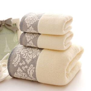 Household towel and bath towel set, pure cotton jacquard face wipe, 3-piece set