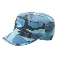 CAMO TWILL WASHED ARMY CAP - Blue Camo