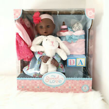 """My Sweet Love 18"""" Baby Doll and Accessories - Bib Bottle Pacifier Plush Bunny"""