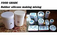 FOOD GRADE Silicone Rubber Mould making Mix 1KG 1:1 Translucent FREE SHIPPING