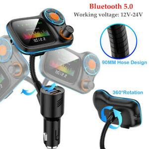 Car 12-24V Bluetooth FM Transmitter Player Radio Charger WMA/APE/FLAC/WAV/MP3