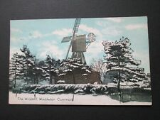 WINDMILL, WIMBLEDON COMMON IN SNOW - SHUREY'S PUBLICATIONS (1913)