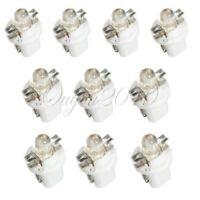 10X T5 B8.5D Car LED Indicator Dash board Light Side Interior Lamp Bulb White
