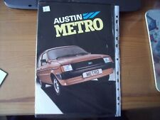 AUSTIN METRO MK1 BROCHURE No.3466C 12 DOUBLE FOLD OUT PAGES REF 1