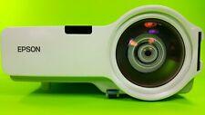 Epson PowerLite 410W Short Throw 3LCD Projector hdmi adapter w/bundle