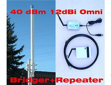40dBm Outdoor Long Range USB Bridger Repeater 2.4GHz 12dBi OMNI Antenna WIFI 11n