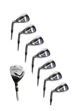 "TALL MENS +1.5"" LEFT HAND AGXGOLF STIFF FLEX IRONS SET HYBRID +5-9 IRONS + PW&SW"