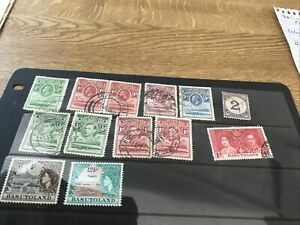 Basutoland. Small Range G5 To Qe2. Mainly Used. Qe2 Mint 13 Stamps