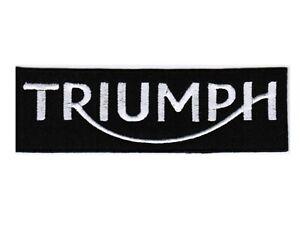 triumph motorcycle Badge/Logo Iron On - Sew on Badge 8cm X 3cm Uk Seller 🇬🇧