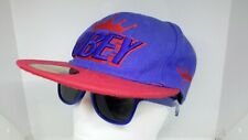 Obey Cap Propaganda Blue & Red Snapback Flat Peak Cap Adjustable