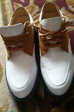 NIKE AIR Golf Shoes Womens Bella Last Soft Spike Tan White Sz. 6.5