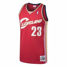 Mitchell & Ness Red NBA Cleveland Cavaliers #23 LeBron James Swingman Jersey
