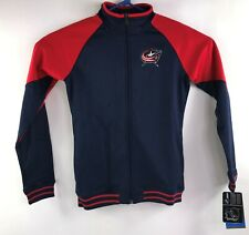 NHL Youth Girls Size Large Columbus Blue Jackets Zip Front Jacket New with Tags