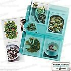 "Martha Stewart Avery Sheet Protectors 5.5"" x 8.5"" Secure Top Load Teal 4-Pockets"