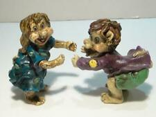 Vintage NAAS Sweden Hugger Figurines Man & Woman Gnomes, Elves