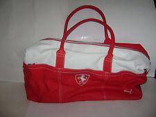 FERRARI FORMULA 1 CLUB PUMA BAG RED WHITE DUFFLE GYM BAG EUC