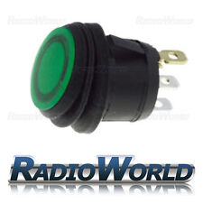 5x Verde Iluminado interruptor 10a 250v SPST Impermeable Polvo Ip65