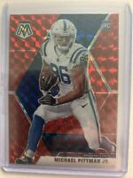 2020 MOSAIC MICHAEL PITTMAN JR ROOKIE #214 RED MOSAIC PRIZM RC PANINI