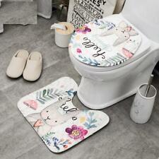 Toilet Cover Bath Set Cartoon Cute Microfiber Eco Friendly Non Slip Bath Carpet