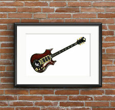 Jerry Garcia's Tiger guitar POSTER PRINT A1 size