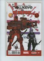 Marvel Hawkeye Vs Deadpool 1 Comic Rare High Grade NM 9.0 Hot Bag & Board Duggan