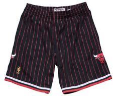 ce35f66e83e Mitchell   Ness NBA Black Pinstripe Chicago Bulls basketball Swingman Shorts